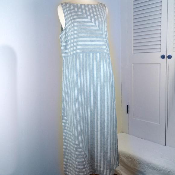 398ff08ef3d J Jill Love Linen Maxi Dress Size M NWT